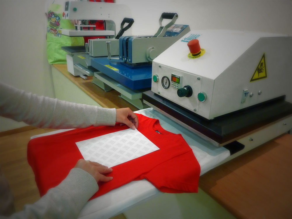 How to do a heat transfer in textiles?