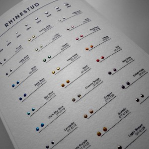 Transfer Rhinestuds – Carta colores